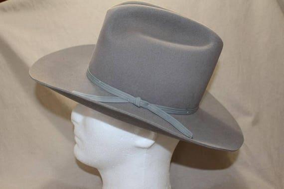 ec1cc69249b Vintage Eddy Bros. Grey Color Classic Cowboy Western Fur Felt