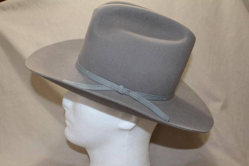 Vintage Eddy Bros. Grey Color Classic Cowboy  Western Fur Felt image 0