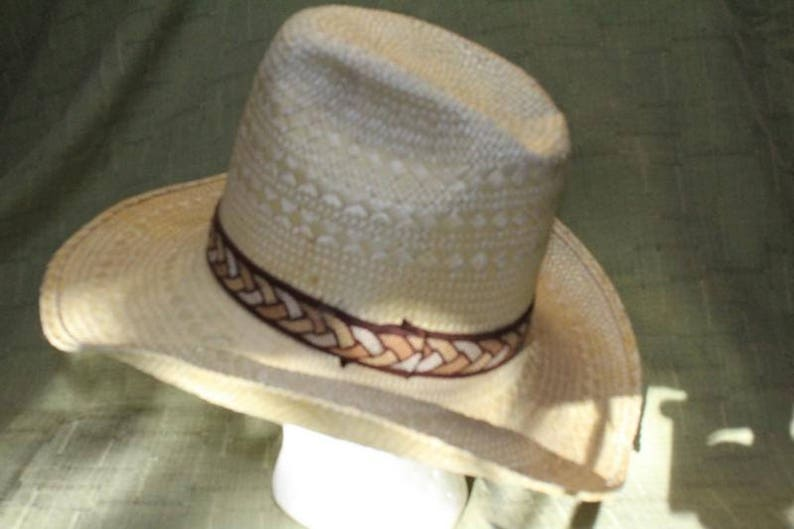 a18dbf930a1 Vintage Resistol Snake River Stagecoach Straw Western Cowboy