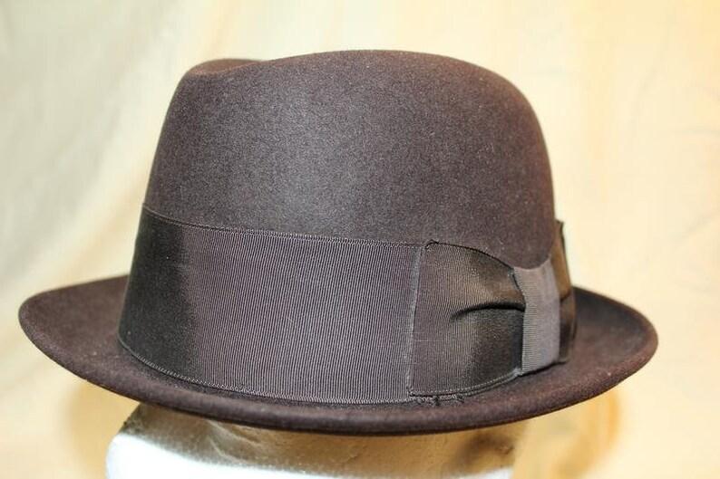 5591d8460cb Vintage Black Adam Harvard 40 Trilby Homburg