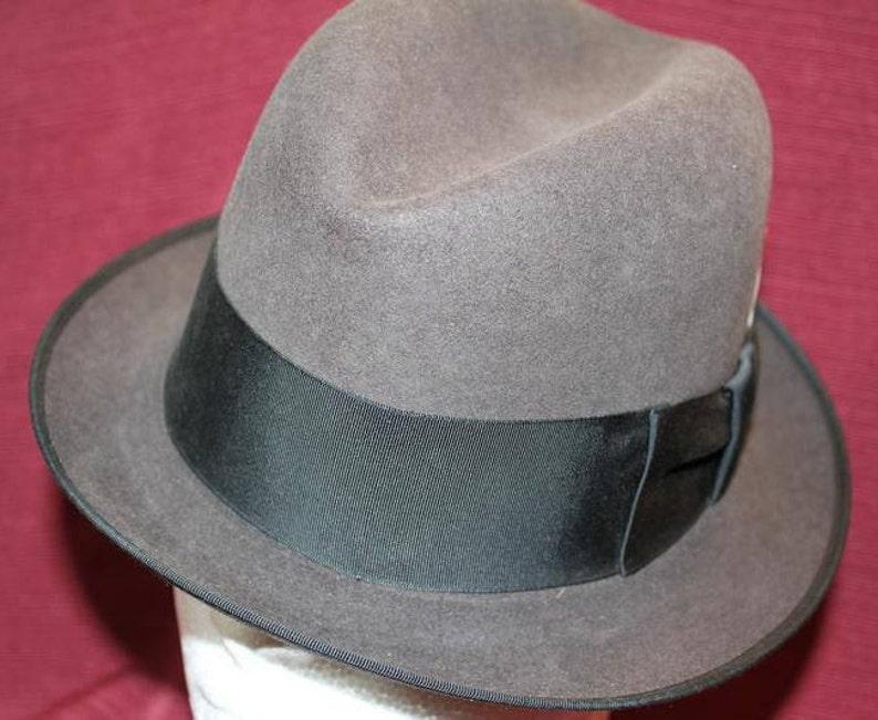 b31d609a282 Vintage Gray Stetson Key Club 10X Fur Fedora