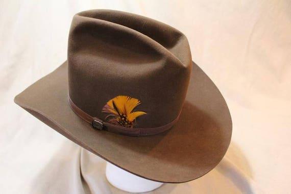 Vintage Resistol High Sierra Cowboy 3X Beaver Fur Felt Sorrel  401cb932a4d3
