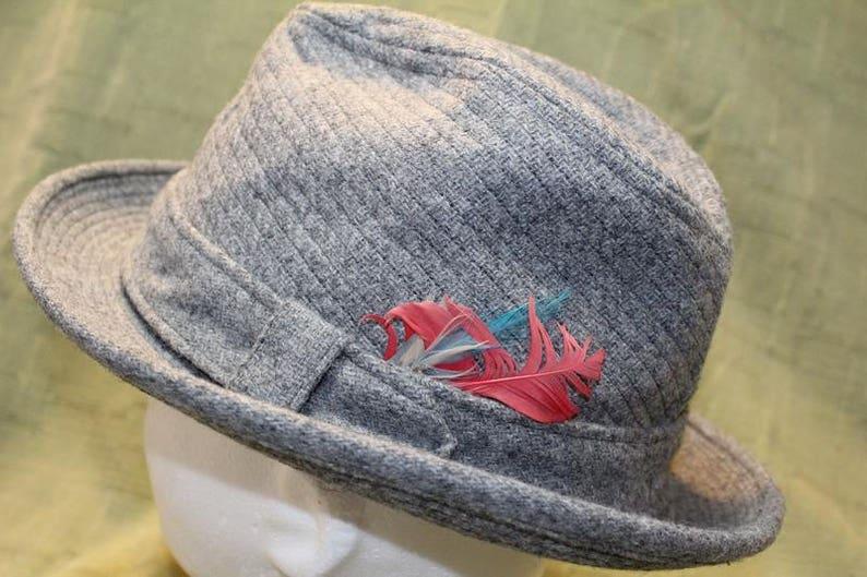 75a62a1ec7a Vintage Resistol Tweed Men s Dress Hat Fedora 7 1 4 58cm