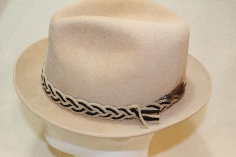 3be4320aa23 Vintage Beige Dobbs Golden Coach Fur Felt Fedora Trilby