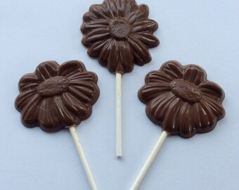 12 Daisy Chocolate pops