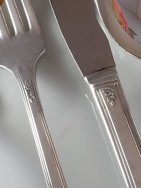 """Oneida Wm Rogers /""""LADY DRAKE/"""" 1940 Grille Style Dinner Fork 7 1//2/"""" A"""