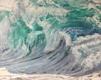 """Turbulence is an original 16""""x20"""" oil painting on gallery wrapped canvas."""