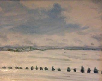 "Colorado I, 16""x20"", original oil on stretched canvas, unframed."