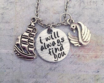 Captain Swan I Will Always Find You Necklace - Fairytale Jewelry - Once Upon A Time Jewelry