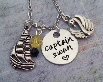 Captain Swan Necklace - Fairytale Jewelry - Once Upon A Time Jewelry