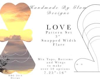 "3"" Flared LOVE design pattern"