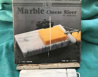 VINTAGE! marble cheese slicer