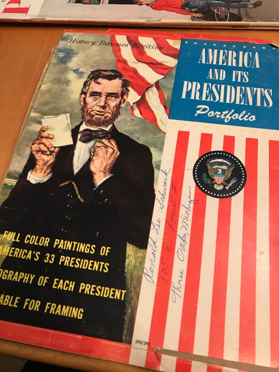 Vintage America And Its Presidents Paintings Etsy