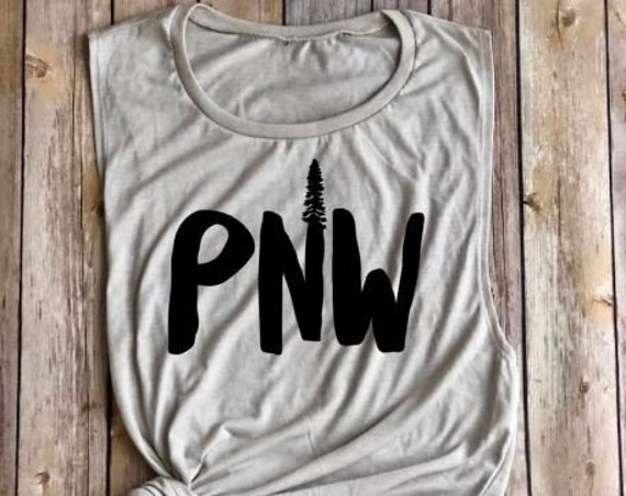 PNW Tank|Muscle Tank|Womens Tank|Pacific Northwest Shirt|Womens Shirt|Womens Clothing|Hiking Shirt|Summer Tank|Hiking Tank|Tank Top