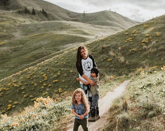 Peace Shirt|Nature Shirt|Unisex Shirt|Womens Clothing|Mens Clothing|Fall Tee|Mountains|Hiking Shirt|Adventure|Camping|Climbing|Womens Shirt