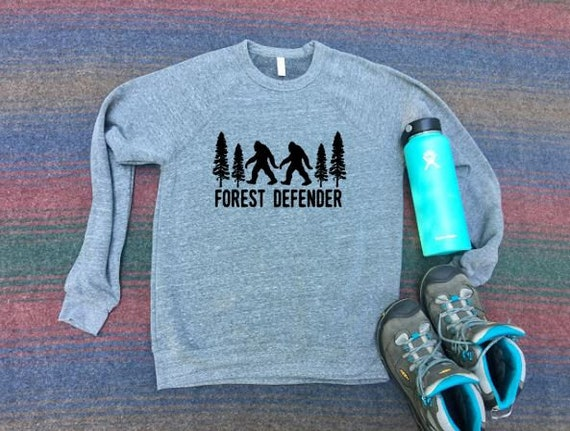 Forest Defender Sweatshirt|Big Foot|Sasquatch|Yeti|Trees|BigFoot Sweatshirt|BigFoot Gift Idea|Mens Shirt|Womens Shirt|Hiking Shirt