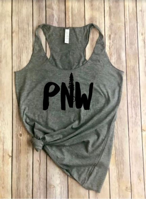 PNW Tank | Pac NW | Womens Shirt | Outdoors Tank | Roadtrip | Hiking Shirt | Evergreen Tree | Mountains | Womens Tank | Adventure Awaits