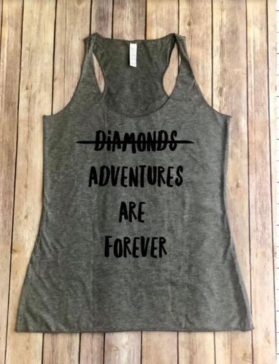 Adventures Are Forever Shirt | Racerback Tank | Hiking Shirt | Roadtrip | Womens Shirt | Adventure Awaits | Boho Womens | Wanderlust