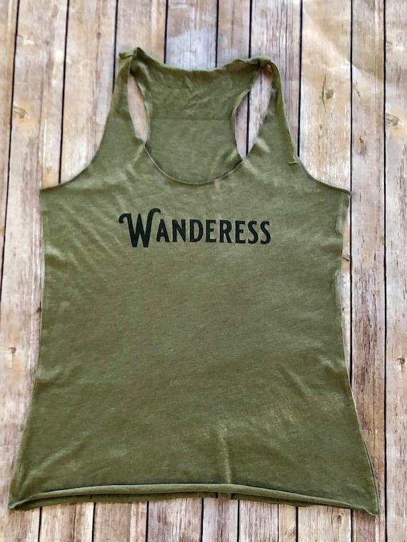 Wanderer Shirt Wanderess Wanderlust Tee Womens Tshirt Wander Boho Graphic Tee  Gypsy Soul Gift for Women Travel Shirt Roadtrip Shirt