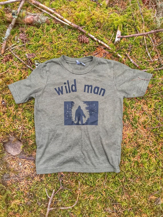 Wild Man Kids Shirt | Wild Child T-Shirt | Kids Baby Toddler | Wild Thing | Cool Kids | Camping Shirt | Hiking Shirt | Hip Toddler Shirt