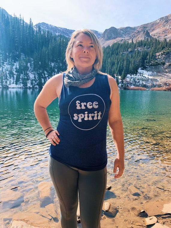 Free Spirit Tank|Muscle Tank|Womens Tank|Womens Shirt|Hiking Shirt|Hiking Tank|Boho Women's Shirt|Boho Tank