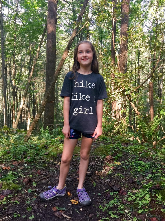 Hike Like A Girl Shirt | Kids Tee | Kid Shirt | Hiking Shirt | Kid Hiking Shirt | Kids Clothing | Adventure Awaits | Outdoors Shirt | Kids