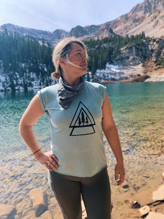 Mountain Shirt|Tree Shirt|Geo Mountain Shirt|Womens Shirt|Womens Clothing|Adventure Shirt|Comfortable Womens Clothing