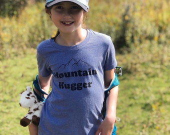 Mountain Hugger Shirt | Kids Shirt | Toddler | Infant | Mountain Kids | Explore | Adventure | Hip Kids Clothing | Nature | Wild Child