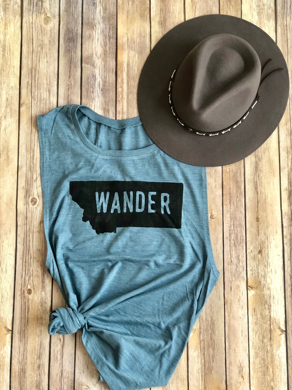 Wander Tank | State Shirt | Home Shirt | Home State Shirt | Womens Tank | Womens Shirt | Hiking Shirt | Camping | Road Trip | Bachelorette