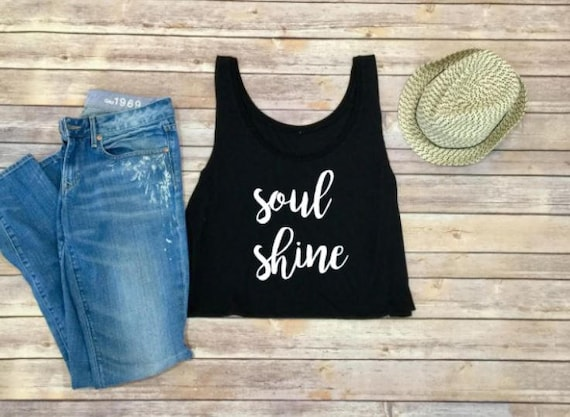 SoulShine Shirt-Allman Brothers Shirt-Crop Top-Tank Top-Women's Tank Top-Womens Shirt-Shirt for Women-Crop Tank-Bohemian Womens Clothing