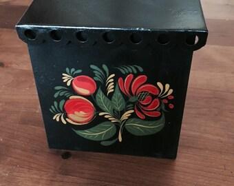 Vintage Slant Top Canister