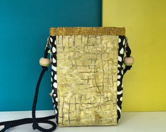 Small Crossbody Bag, Bright Colorful Fabric, Lightweight and a Handy Size to Grab and Go