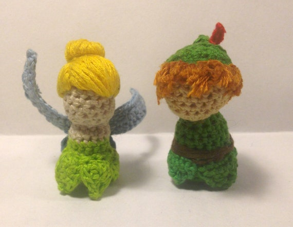 Crochet Pattern Disneys Peter Pan And Tinkerbell Dolls 2 Etsy