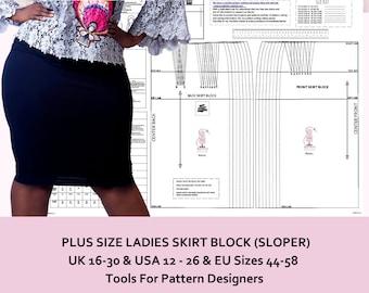 Basic Blocs-Pour modèle Cutters-Concevoir Vos propres motifs A-Line jupe Bloc