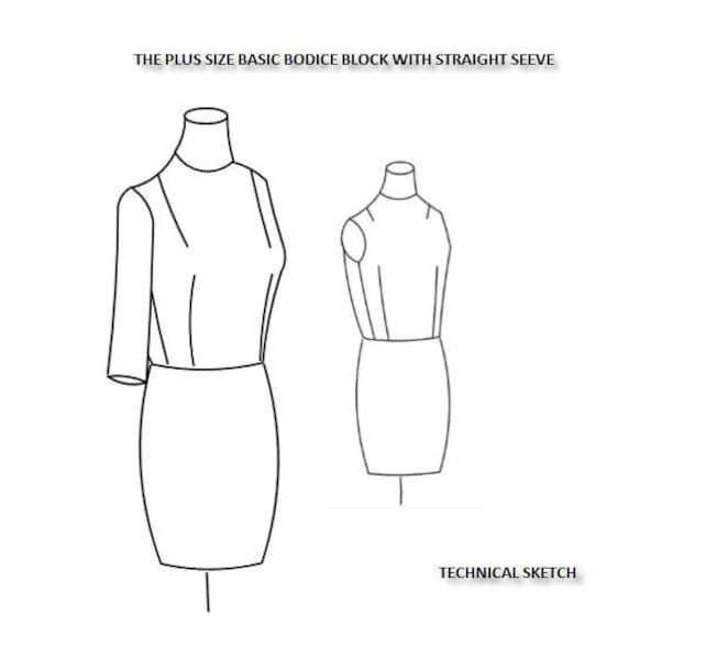 Plus tamaño bloque básico blusa con manga recta Reino Unido | Etsy