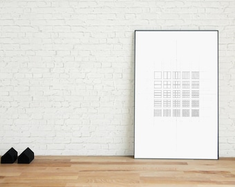 Dividing the Square Poster | The Grid Series