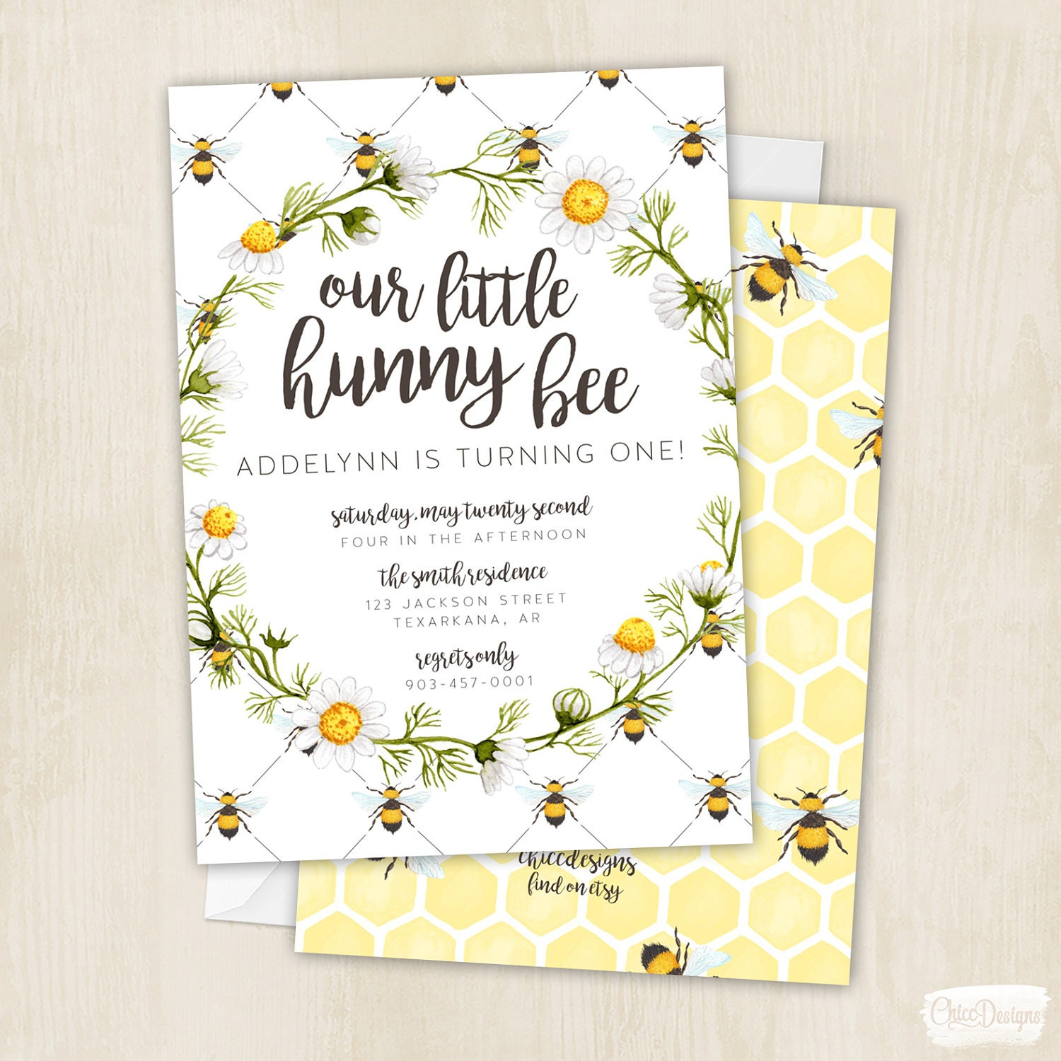 Hunny Bee Birthday Honey Bee Bees Honey Birthday Party | Etsy