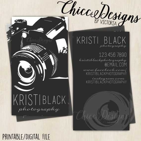 Photography business card vintage theme camera business etsy reheart Choice Image