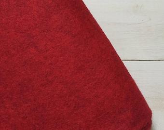 Felt - wool blend - cut sheets or meterage - red