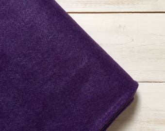 Felt - wool blend - cut sheets or meterage - purple