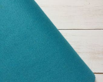 Felt - wool blend - cut sheets or meterage - teal