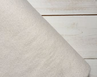 Felt - wool blend - cut sheets or meterage - white