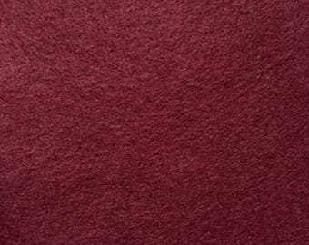 Felt - wool blend - cut sheets or meterage - burgundy