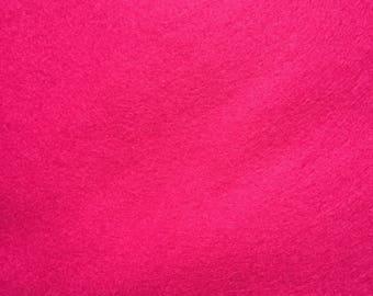 Felt - wool blend - cut sheets or meterage - bright pink