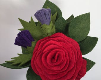 Scottish felt flower gift bouquet - February Bouquet of the Month