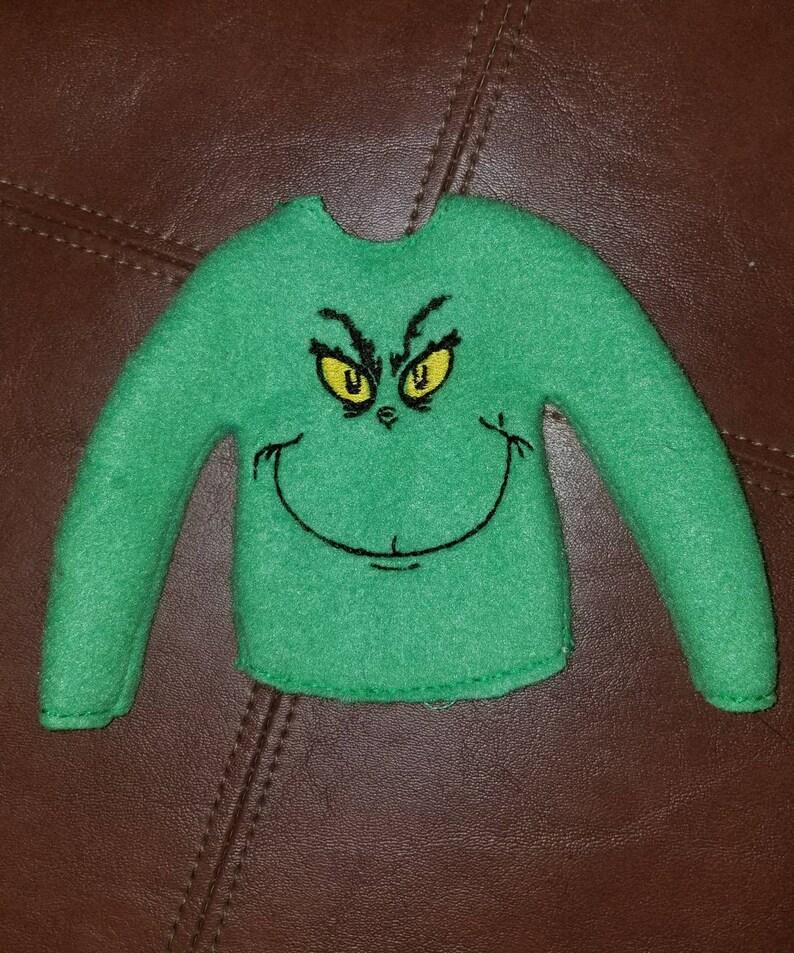 Grinch Elf Sweater Elf Clothes Christmas Elf Sweater Elf Etsy