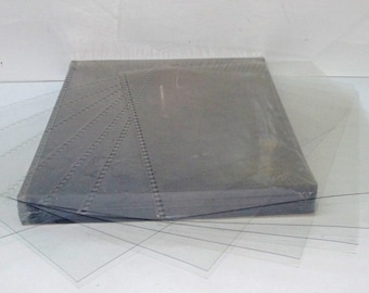 """Qty of 12 Clear Cover Plastic Binding Sheet 9""""x11"""" Pre-Punched Catalog Notebook Report"""