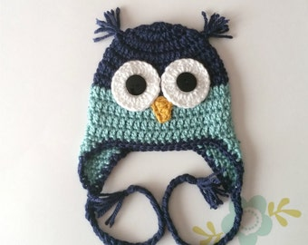 Blue Owl Hat - Winter Hat - All Sizes Available - Daddy and Me Hats - Baby  Shower Gift 39eefff15d19