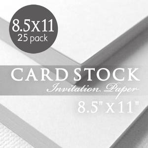 white 85 x 11 cardstock paper 80lb heavy card stock paper 25 sheets white card stock paper printable invitations programs tags menus - Printable Invitation Card Stock
