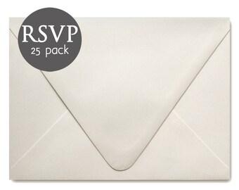 "Ivory Wedding RSVP Envelopes - 25 Pack - Ivory Response Card Envelopes - Ivory Envelope - 4BAR - 3.5"" x 5"""